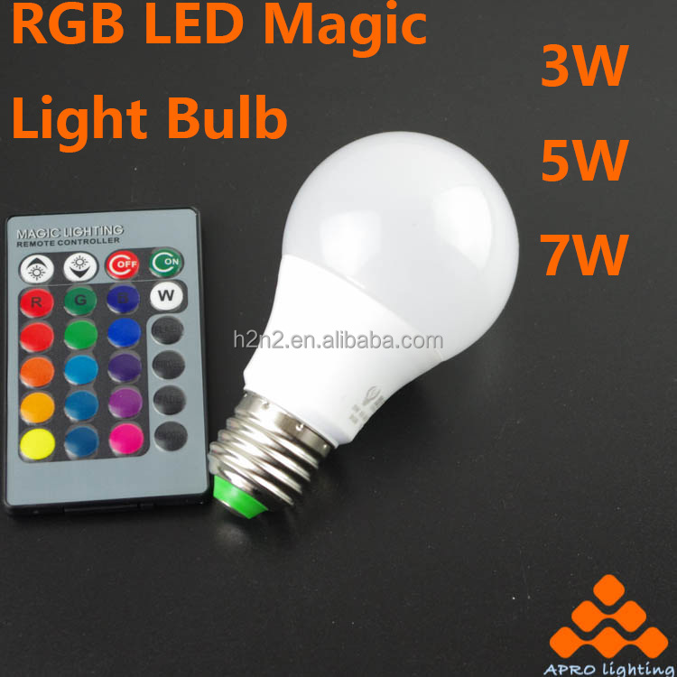 CE Certified color changing led bulb with remote control e27 3000 kelvin With Good Service