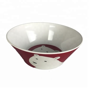 "Cute 8"" inch Promotion bear dinnerware l melamine plastic bowl"