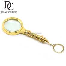 Cheap Handheld Glass lens 10X Magnifying keychain Glass Magnifier
