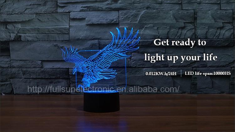 Fs-3021 3d Illusion Led Lights Home Lamp For Kids Room & Bed Room ...