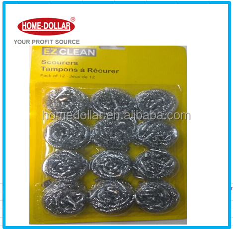 12 pc stainless steel scourer cleaning set