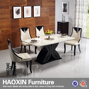 Luxury 8 People Marble Dining Table Set