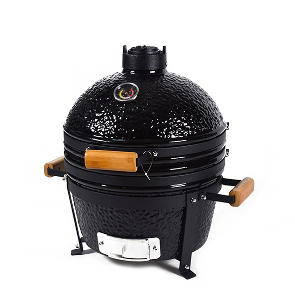 Portable 16 Inch Mini Tabletop Kamado Used Cheap China Clay BBQ Ceramic Mobile Grill