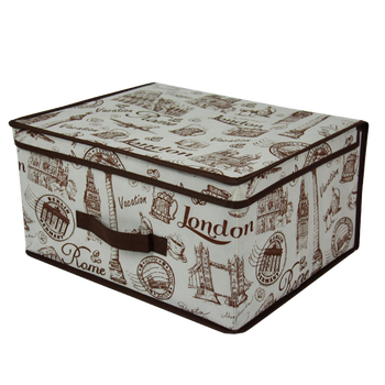 Collapsible Sturdy Clothing Storage Box , Large Decorative Storage Boxes  With Lids