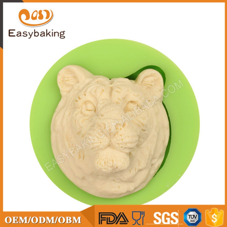 ES-0024 Tiger Head Silicone Molds Fondant Mould for cake decorating