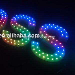 illuminated sign letters led pixel light waterproof IP68 led letter sign with T-1000s controller