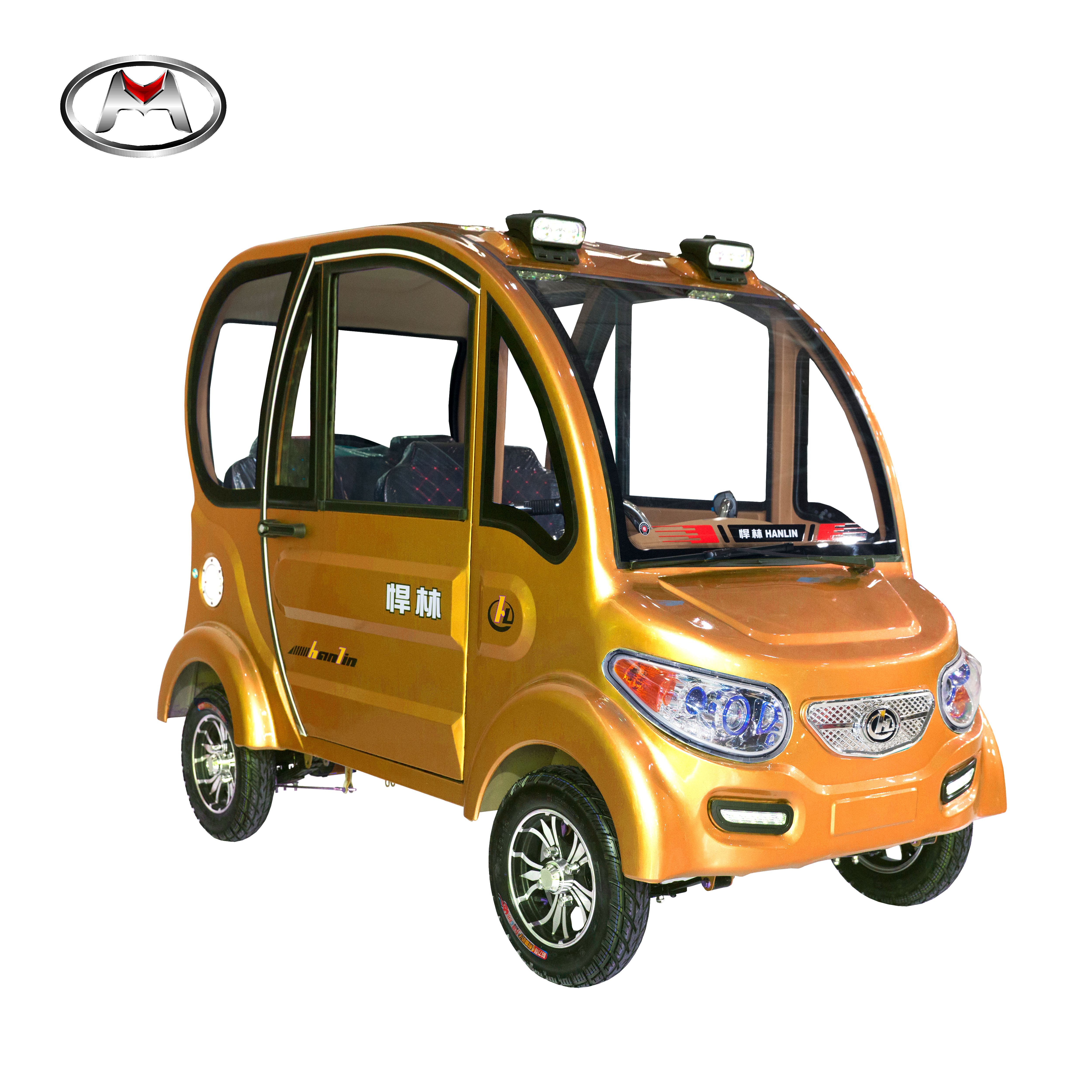 China 4 Wheel Car Sev One Person Mini Electric Solar Rickshaw Vehicle Without Driving Licence