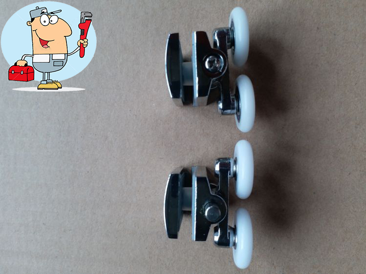 Shower Room Parts Metal Shower Wheel Pulley Roller 19mm
