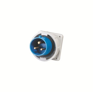 IEC Waterproof 32A industrial 3pin electric panel mounted Plug