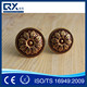 Large stepped expensive antiqued round door knob handles