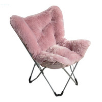 Factory direct Living room luxury portable Comfortable Folding Butterfly Chairs furniture