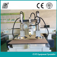 three processing spindle cnc router with cylinder control