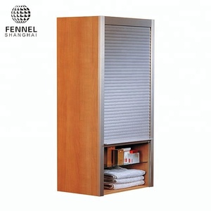 Bathroom Solution Convenient Storage Customized Plastic Rolling Shutter Cabinet Door