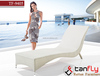 TF-9405 Lounger rattan furniture wicker sun bed outdoor resin garden sofa bed
