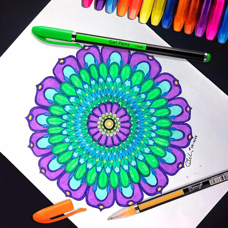 Коллег, крутые рисунки цветными ручками
