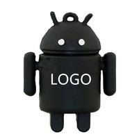 Promotion customized logo gift robot shape water proof usb flash drive 32G memory stick
