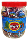 WELLY MINT BARLEY & SWEET SOUR TAMARIND FLAVORS LOLLIPOPS CUP 594G/MIXED FRUIT LOLLIPOPS/ FRUIT STICK CANDY
