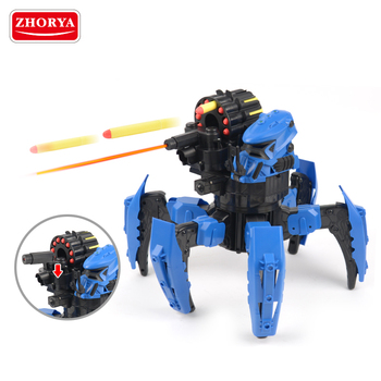 Zhorya space warrior DIY rc fighting robot spider robot with armor