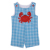 New design baby summer lattice romper crab clothing