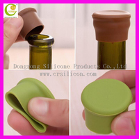 Christmas Items High Quality Reusable Eco-friendly Silicone Rubber Wine Stopper Bottle Cap for Promotional Gift