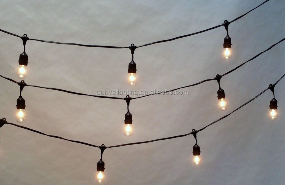 String Lights E26 : 48 Foot E26,E27 Outdoor Heavy Duty Medium Base Edison Outdoor String Lights - Buy String Lights ...