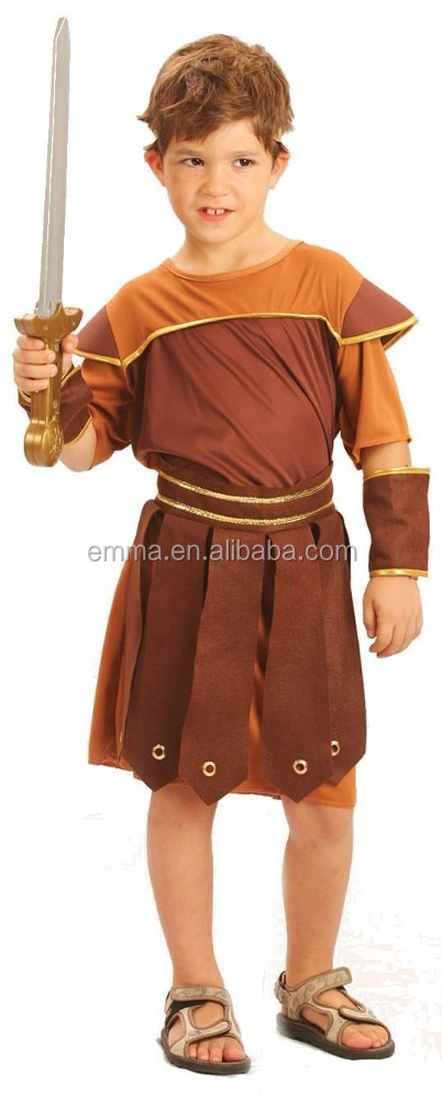 Cool Halloween Child Gladiator Party Outfit New Costume Roman Warrior Kids Boys BC12509