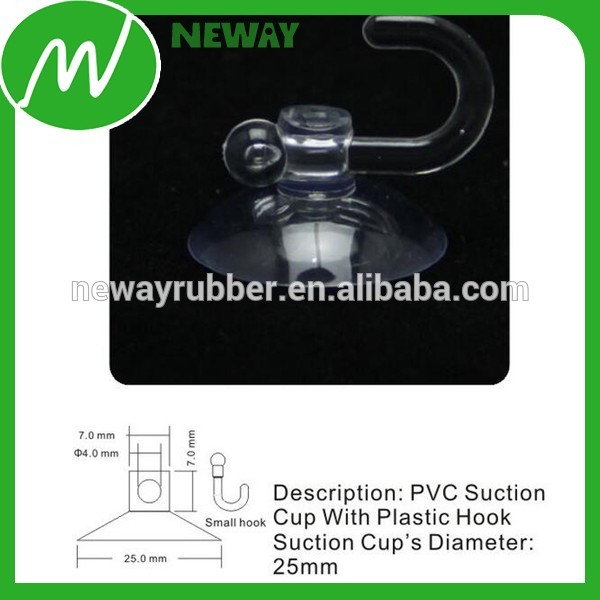 Small 25mm Suction Cup with Plastic Hook