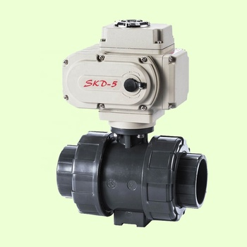 Best Price PVC true union explosion proof motorized ball valve electric with Actuator