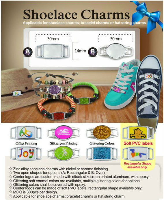customized metal running shoe charms