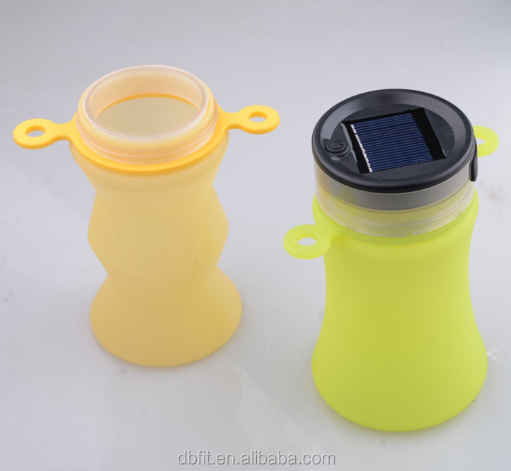 Custom protein shaker Beautiful LED design plastic sports bottle