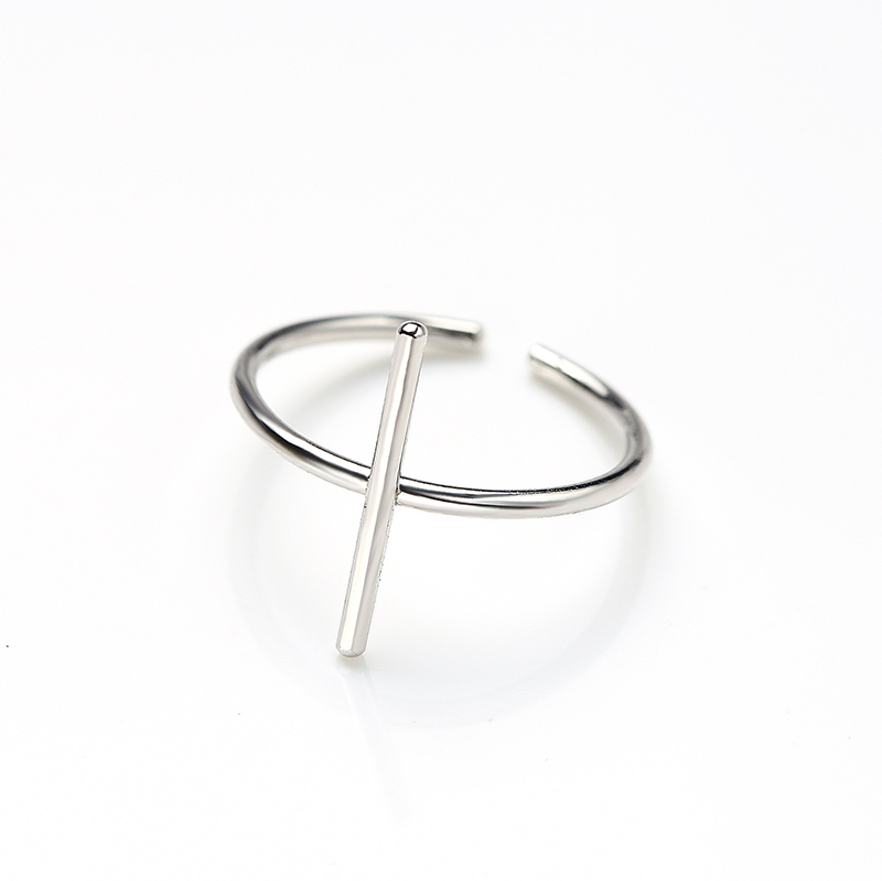 K338 simple designs 925 sterling silver geometric open <strong>ring</strong> for women