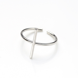 K338 simple designs 925 sterling silver geometric open ring for women