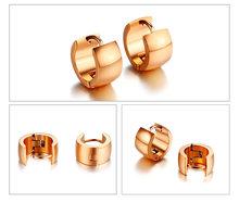 Классические простые маленькие серьги-кольца Vnox для женщин и мужчин из нержавеющей стали, 3 тона, базовые аксессуары унисекс(Китай)