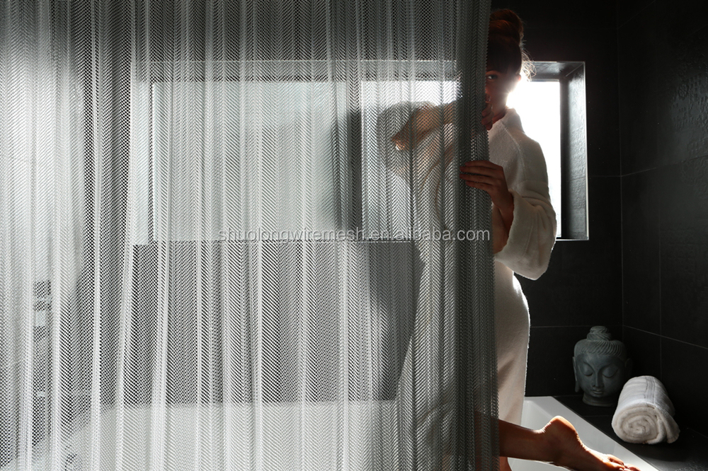 ISO Manufactory Aluminum Wire Mesh Shower Curtain