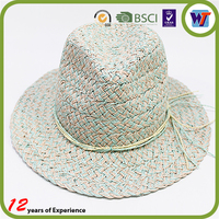 2016 Natural Stylish Wide Brim Sombrero Unisex Straw Woven Paper Hat