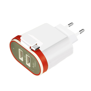 3.4a Wall Charger 5v Micro USB US Wall Plug Dual USB Charger Socket Adapter