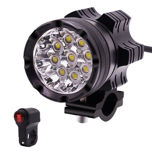 New 12V Strong Light Waterproof Led Headlight Always Bright and Flash with Switch Motorcycle Light