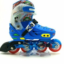 2017professional inline speed skates best quality land roller skates for sale led light up shoes