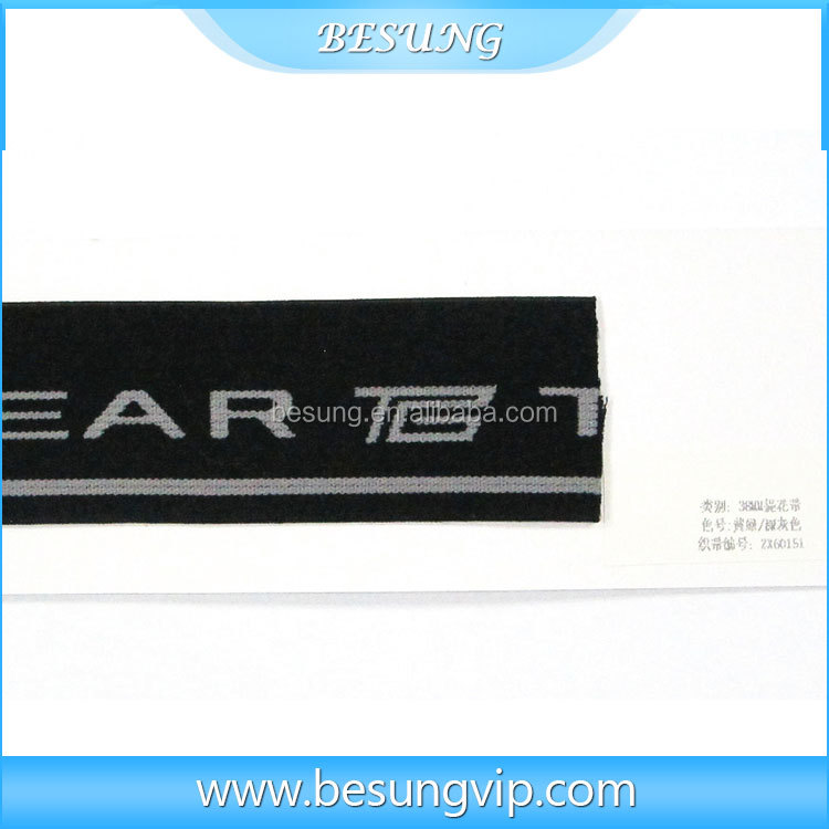 Garment accessories underwear elastic band/webbing custom jacquard webbing tape