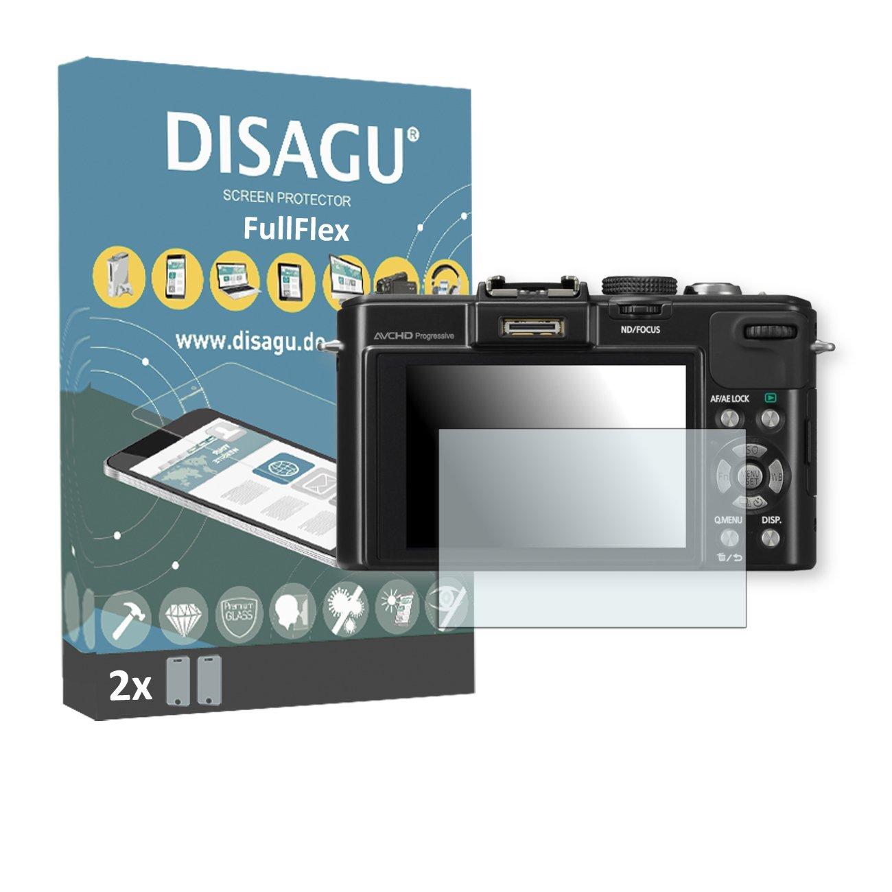 2 x Disagu FullFlex screen protector for Panasonic Lumix-DMC LX7 foil screen protector