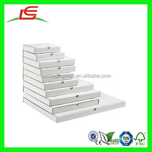 N955 Flat White Postal Boxes, Strengthen Foldable Flat Box, Flat Boxes Ideal For Posting Products