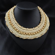 2015 High quality handmade hot wooven american indian necklace
