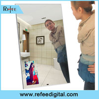 "Refee 42"" Aluminum Material magic mirror advertisements lcd"