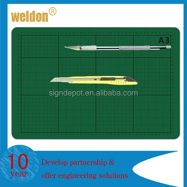 A2 Cutting Mat Non Slip Printed Grid Lines Knife Board Crafts Models