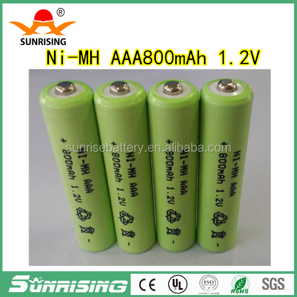 Original New 1.2V AAA 800mAh Ni-Mh 3A Ni Mh Rechargeable Battery pointed top