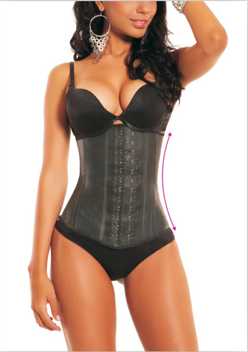 HOT!! 2015 New Womens Latex Ann Chery Latex Waist Cincher Women Shapers Corsets M