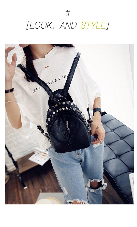 Get Quotations · Women Bags Backpack Purse PU Leather Zipper Bags Casual  Backpacks Shoulder Bags Women Backpack Purse PU 51d1b81c0b
