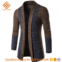 2017 Spring men's long sleeve shrug cardigan sweater ,fancy cardigan man sweater