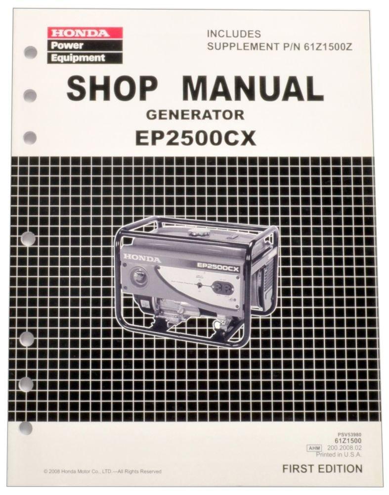 Get Quotations · Honda EP2500 Generator Service Repair Shop Manual