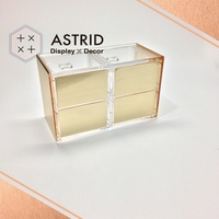 L Shaped Cosmetic Display Organizer Pure Cosmetic Organizer Acrylic with Cosmetics Acrylic Case